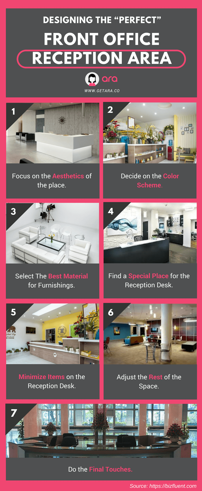 Steps To Design Your Front Office Reception Area   Infographic